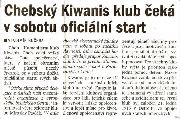 Chebský deník. 31. ledna 2002
