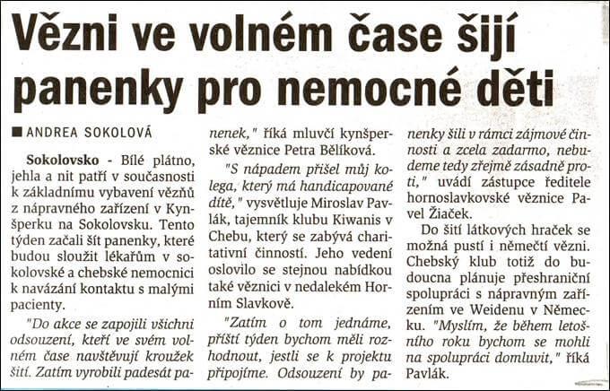 Chebský deník. 1. února 2002
