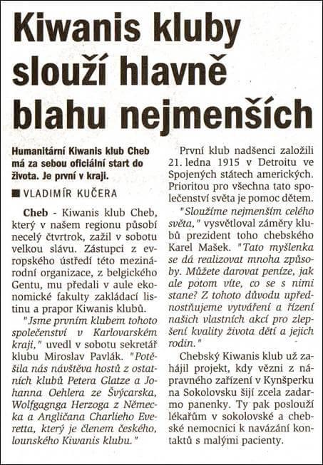 Chebský deník. 4. února 2002