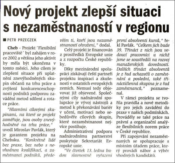 Chebský deník. 8. ledna 2005