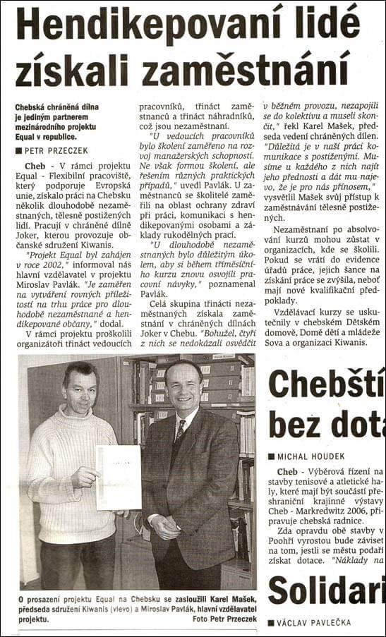 Chebský deník. 12. ledna 2005