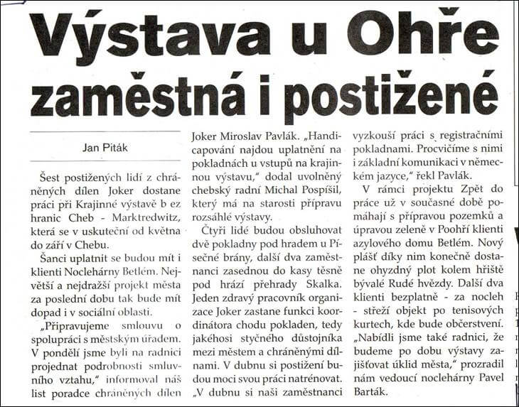 Týdeník Žurnál. 22. února 2006