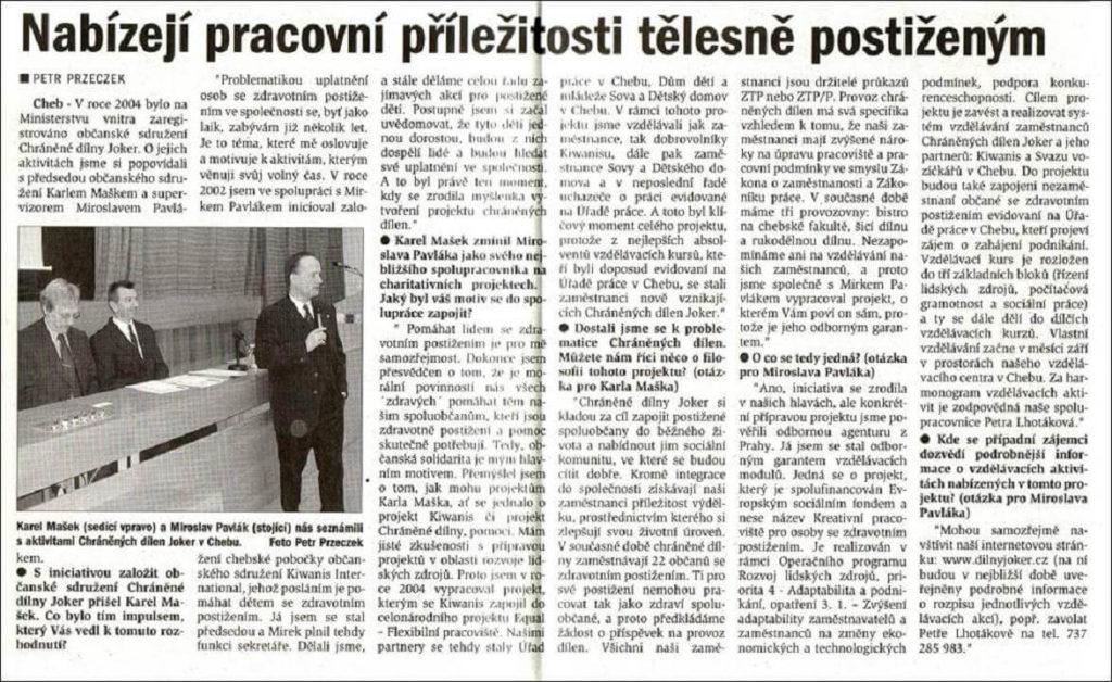 Chebský deník. 15. srpna 2006