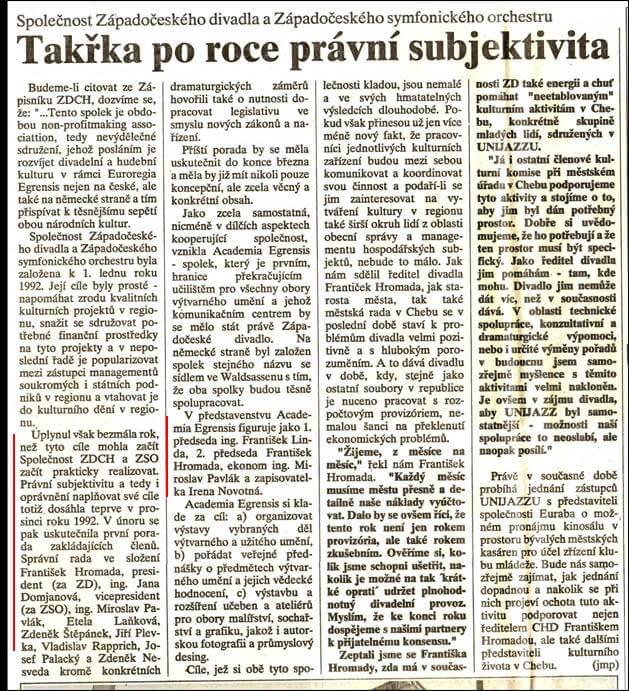 Chebský deník. 19. března 1993