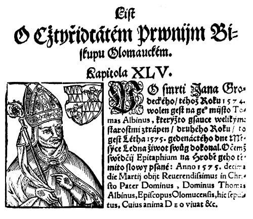 Záznam o Tomáši Albínovi z Helfenburka