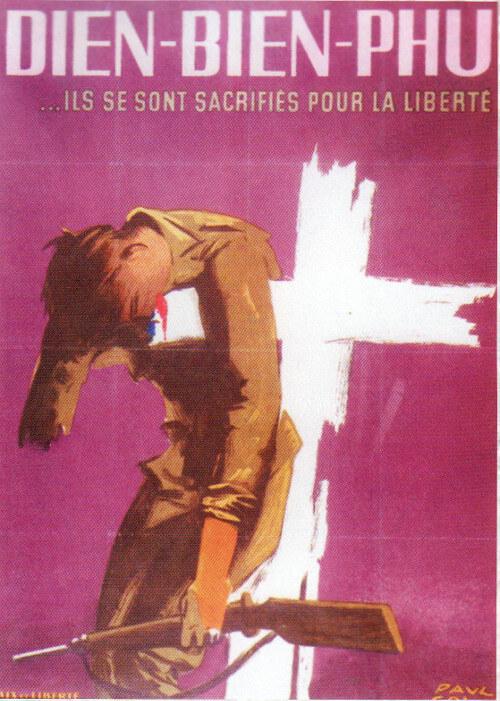 Plakát na paměť bitvy u Dien Bien Phu
