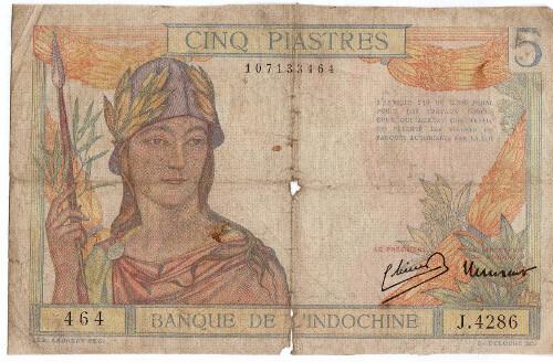 Pět piastrů – koloniální bankovka