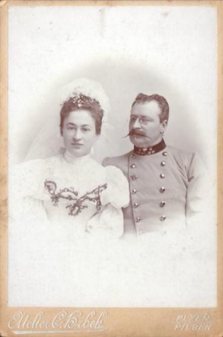 Anna Duchková a František de Paula (nar. 1856)