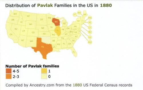 Rozšíření Pavláků v USA