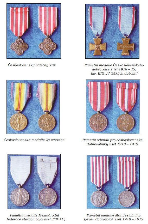 Vyznamenání Josefa Pavláka