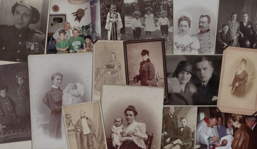 Soubor rodinných fotografií