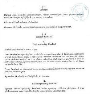 Registrace znaku a praporu na MV ČR
