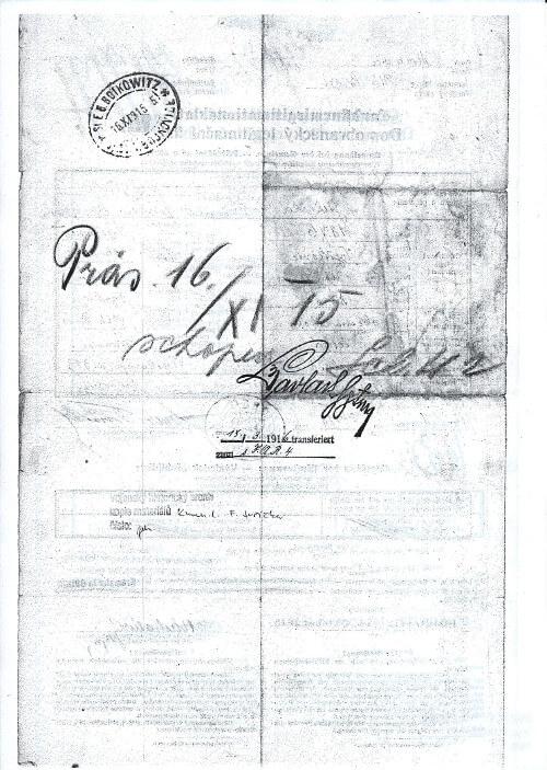 Podpis hejtmana Leonharda Pavlaka