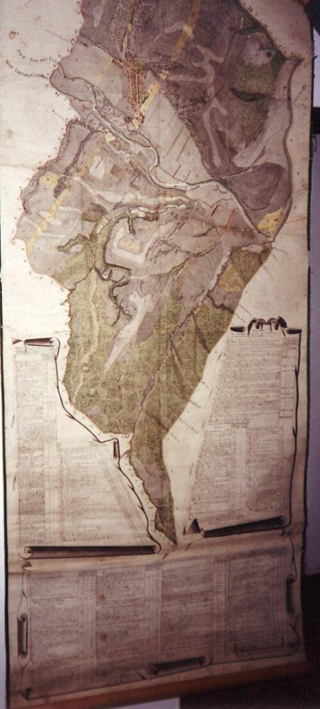 Nástěnná mapa Chmel'nice z roku 1779