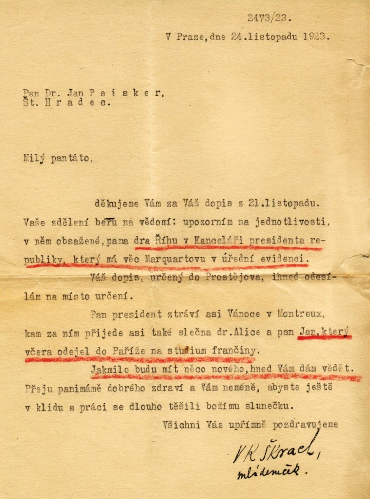 Dopis Škrach